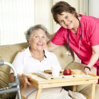 hospice patient and hospice volunteer